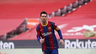 Dans un entretien au quotidien Olé, Leo Messi reste flou sur son avenir. (JOAN VALLS / NURPHOTO)