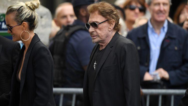 Johnny Hallyday à Paris,le 1er septembre 2017. (ERIC FEFERBERG / AFP)