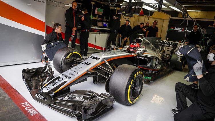 La Force India et ses ingénieurs viseront haut cette année encore. (FLORENT GOODEN / DPPI MEDIA)