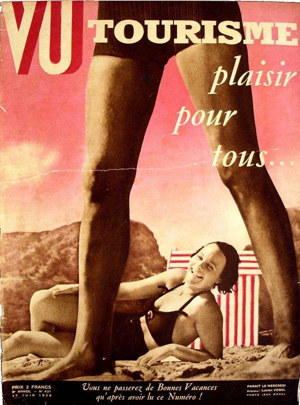 Magazine Vu , « Tourisme pour tous »  (coll. MHV)