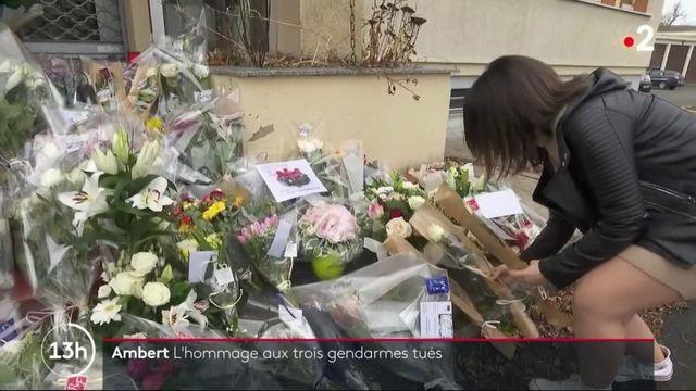 Puy-de-Dôme : l'émotion reste vive à Ambert après la mort des trois gendarmes