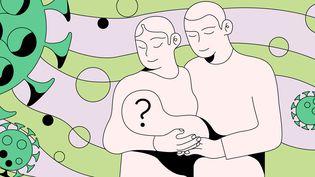 L'épidémie de Covid-19 a contraint de nombreux couples à revoir leurs projets de bébés, tout en en incitant d'autres à se lancer. (JESSICA KOMGUEN / FRANCEINFO)