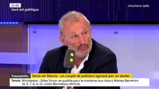 François Pupponi, député PS du Val d'Oise sur franceinfo, le 5 juillet 2018. (FRANCEINFO / RADIOFRANCE)