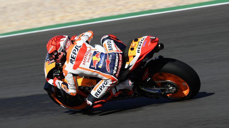 Marc Marquez au GP moto du Portugal, le 16 avril 2021. (GIGI SOLDANO / GIGI SOLDANO)