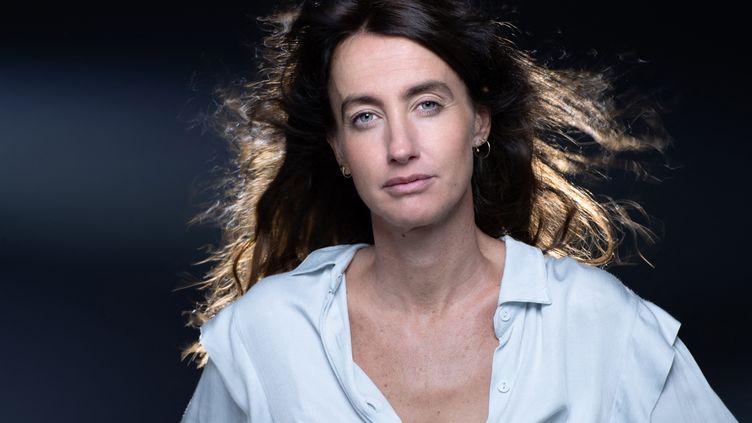 La romancière Maria Pourchet, à Paris le 14 septembre 2021 (JOEL SAGET / AFP)