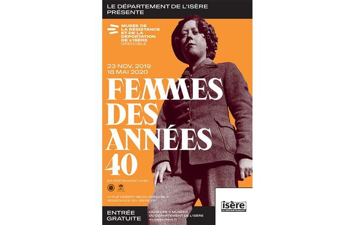 """L'affiche de l'exposition """"Femmes des années 40"""" (Musée de la Résistance et de lz Déportation de l'Isère)"""