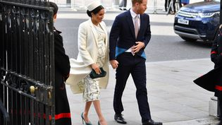 Leprince Harry et la duchesse de SussexMeghan Markle à Londres, le 11 mars 2019. (BEN STANSALL / AFP)
