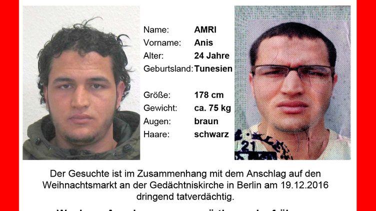 L'avis de recherche émis par les autorités allemandes, mecredi 21 décembre 2016. (BKA / AFP)