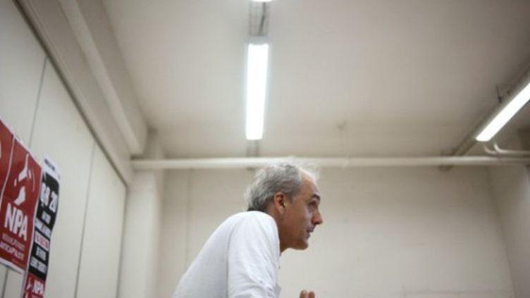 Philippe Poutou, le candidat du NPA à la Présidentielle (FRED DUFOUR / AFP)