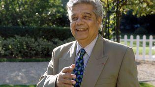Le poète et diplomate mauricien Edouard Maunick en 1997. (PHILIPPE MATSAS / OPALE)