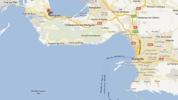 Le drame s'est produit à Martigues (Bouches-du-Rhône), le 12 novembre 2011. (Capture GoogleMap / FTVi)