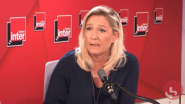 Marine Le Pen, invitée de France Inter mercredi 9 septembre. (FRANCE INTER / RADIOFRANCE)