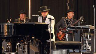 Bob Dylan en concert le 12 juillet 2019 à Hyde Park, à Londres (Royaume-Uni). (KEITH MAYHEW / SOPA IMAGES / SIPA)