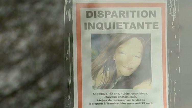 L'avis de recherche d'Angélique, 13 ans, portée disparue depuis mercredi 25 avril. (FRANCE 3)