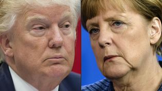 Photo combinée Merkel-Trump (SAUL LOEB / AFP)