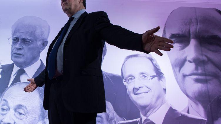 Jean-Christophe Cambadélis, le premier secrétaire du PS, le 20 mai 2015 au siège du parti, rue de Solférino, à Paris. (MAXPPP)