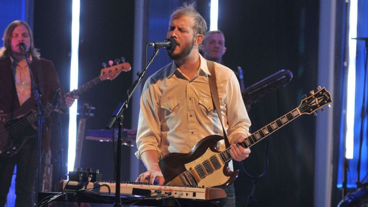 Bon Iver, alias Justin Vernon, lors du  'Later With Jools Holland', le 18 octobre.  (Andre Csillag / Rex Fea/REX/SIPA)