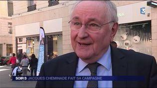 Jacques Cheminade, candidat à l'élection présidentielle. (FRANCE 3)