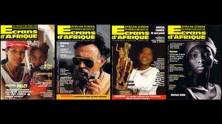 """Différentes couvertures de la revue """"Ecrans d'Afrique"""" éditée de 1992 à 1998. (ECRANS D'AFRIQUE)"""