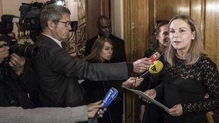 Camille Laurens, présidente du Femina, annonce le palmarès  (ALIX WILLIAM/SIPA )