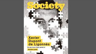 """La Une du numéro de """"Society"""" consacré à la première partie du dossier sur l'affaire Xavier Dupont de Ligonnès, et sorti le 23 juillet 2020. (Capture d'écran SOCIETY)"""
