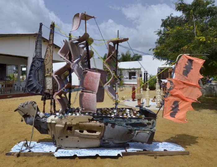 """""""Le voilier des temps"""", Aston, 2016.  (Charles Placide / Centre Arts et Cultures de Cotonou)"""