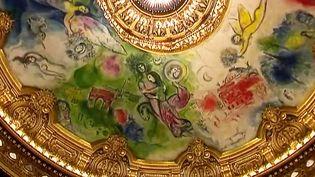 Le plafond de l'Opéra Granier par Chagall, une oeuvre monumentale de 220 m2 inaugurée en septembre 1964  (France 2 Culturebox (capture vidéo))