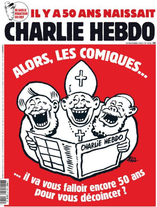 """Le numéro de """"Charlie Hebdo"""" paru le 18 novembre 2020. (CHARLIE HEBDO)"""