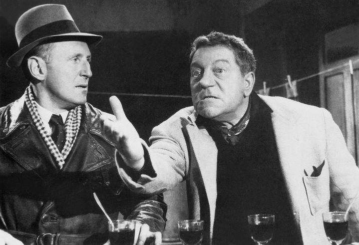 """Bourvil et Gabin dans """"La Traversée de Paris"""" de Claude Autant-Lara, 1956 (MAXPPP)"""