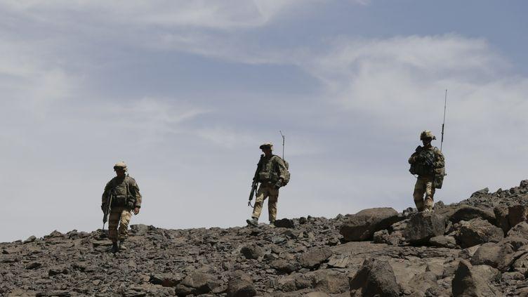 Les soldats français le 17 mars 2013 sur l'Adrar des Ifoghas (KENZO TRIBOUILLARD / AFP)
