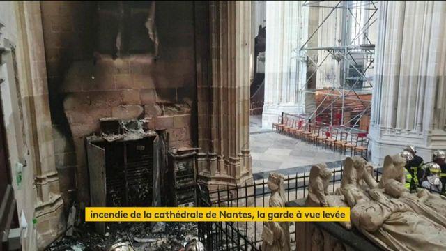Incendie de la cathédrale de Nantes : garde à vue terminée