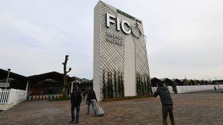 L'entrée du Parc alimentaire, Fico, à Bologne (Italie). (VINCENZO PINTO / AFP)