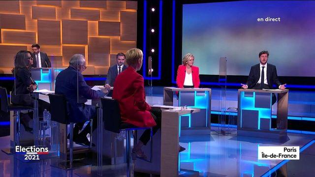 Elections régionales en Ile-de-France : les six principaux candidats ont une minute pour convaincre