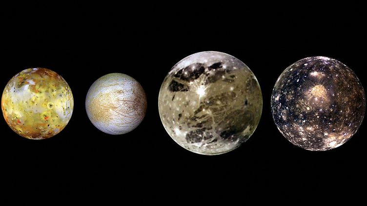 Quatre des lunes de Jupiter. (NASA / NASA / AFP)