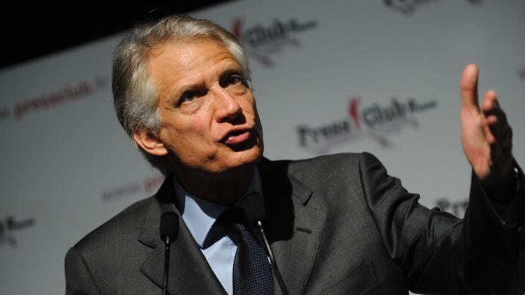 L'ancien Premier ministre Dominique de Villepin lors d'une conférence de presse, mardi 13 décembre 2011 à Paris. (WITT / SIPA)