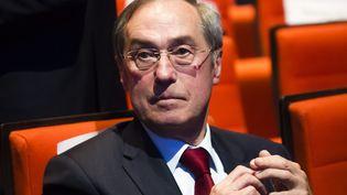 Claude Guéant assiste à un meeting des Républicains pour les européennes, le 15 mai 2019, à Paris. (MAXPPP)