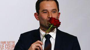 Le candidat du PS et de ses alliés à l'élection présidentielle, Benoît Hamon, le 29 janvier 2017, au soir du second tour de la primaire de la gauche. (FRANCOIS MORI / AP / SIPA)