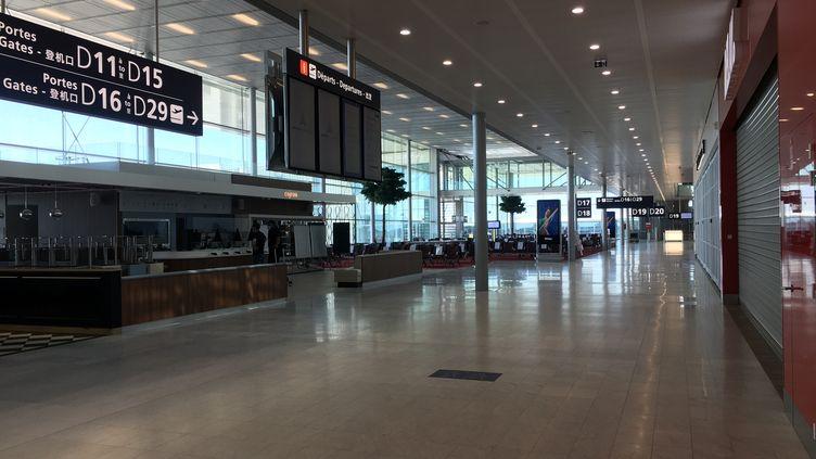 Le hall 3 de l'aéroport d'Orly (Val-de-Marne) est prêt à rouvrir au public, le 24 juin 2020. (WILLY MOREAU / RADIO FRANCE)