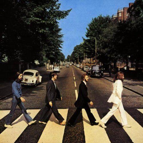 """Détail de la pochette de l'album """"Abbey Road""""  (Iain MacMillan)"""