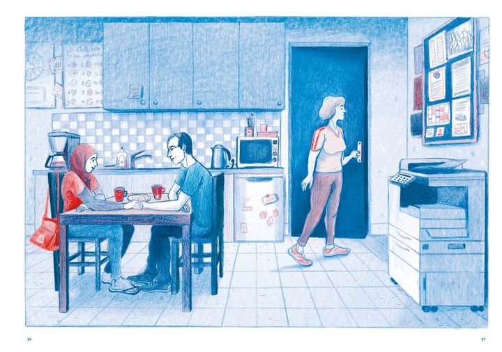 """Chez toi. Athènes 2016"", de Sandrine Martin, pages 70-71 (Sandrine Martin / Casterman)"