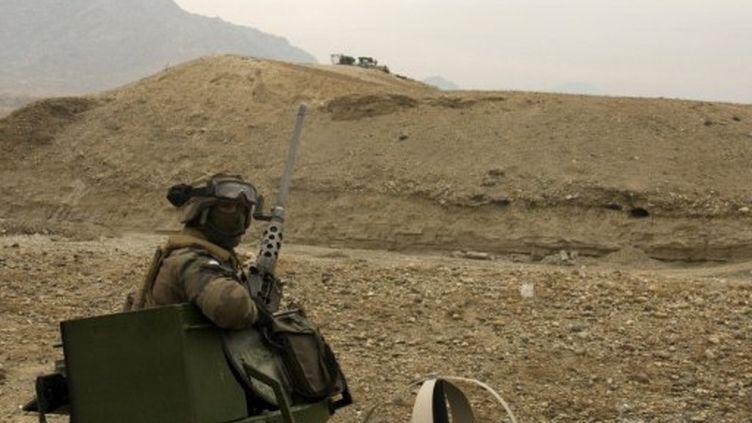 Armée française dans vallée de Tagab (province afghane de Kapisa), le 22 février. (AFP /Aymeric Vincenot)