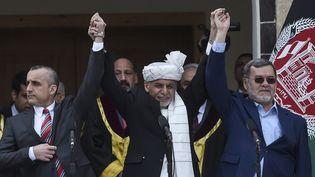 Ashraf Ghani,déclaré président de l'Afghanistan, au palais présidentiel à Kaboul, le 9 mars 2020. (WAKIL KOHSAR / AFP)