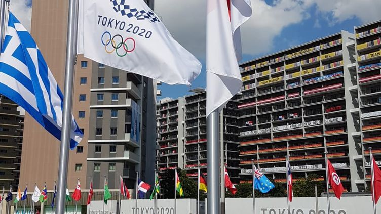 Vue du village olympique de Tokyo, le dimanche 25 juillet 2021. (CECILIA BERDER / RADIO FRANCE)