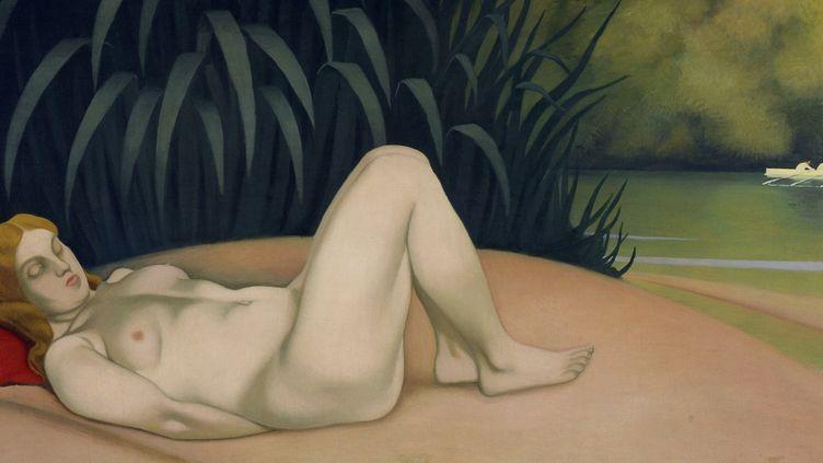 """L'exposition du musée Bonnard réuni une cinquantaine de tableaux de """"Belles endormies"""". Ici """"Femme étendue au bord de l'eau"""", Félix Vallotton, 1921  (Adagp, Paris 2014)"""