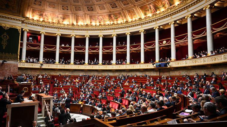 Les députés dans l'hémicycle de l'Assemblée nationale, à Paris, le 21 janvier 2020. (BERTRAND GUAY / AFP)