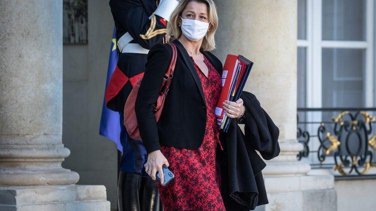 Barbara Pompili lors d'un Conseil des ministres (18 novembre 2020). (FRED DUGIT / MAXPPP)