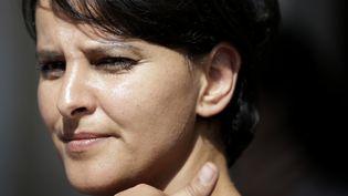 Najat Vallaud-Belkacem à son ministère le 17 juin 2015 à Paris (KENZO TRIBOUILLARD / AFP)