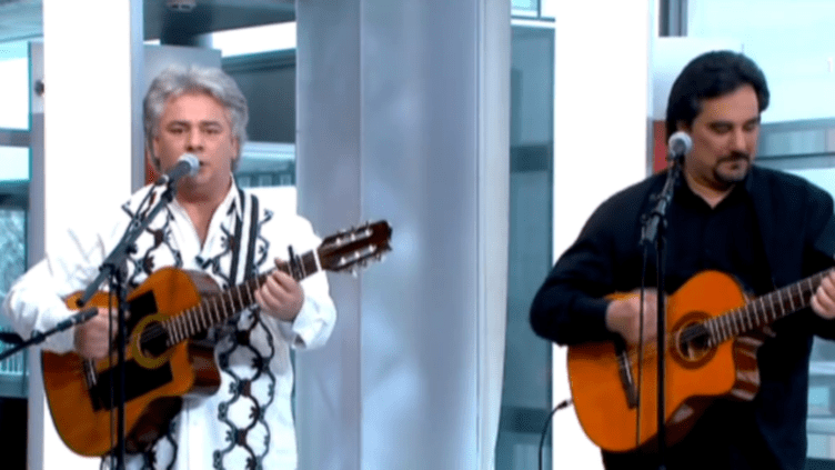 Niño Baliardo et l'un des musiciens de la Gipsy family  (DR)