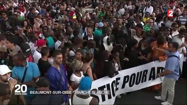 Beaumont-sur-Oise : marche blanche en hommage à Adama Traoré