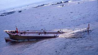 Le naufrage de l'Amoco Cadiz, en 1978. (MAXPPP)